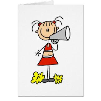 Carte Pom-pom girl avec le mégaphone