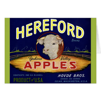 Carte Pommes de Hereford Washington