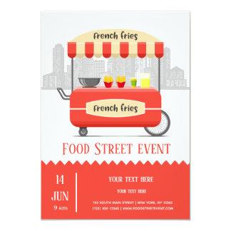 Carte Pommes frites de rue de nourriture