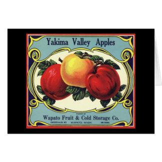 Carte Pommes vintages de vallée de Yakima d'art