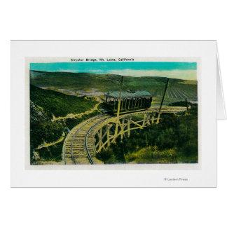 Carte Pont circulaire, Mt. LoweMt. Lowe, CA