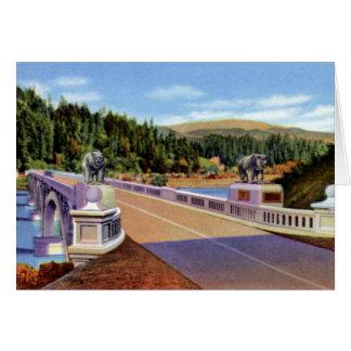 Carte Pont commémoratif de Klamath la Californie Douglas