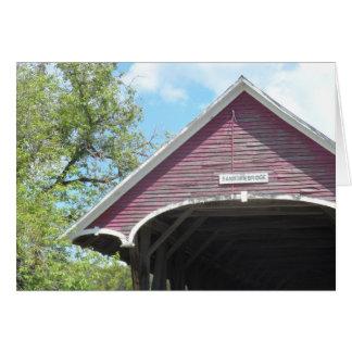 Carte Pont couvert Vermont de Sanborn