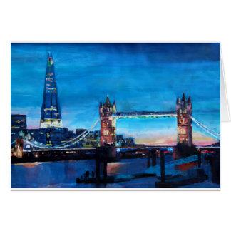 Carte Pont de tour de Londres avec le tesson