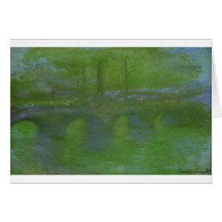 Carte Pont de Waterloo, aube par Claude Monet