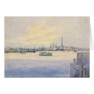 Carte Port 1846 de Boston