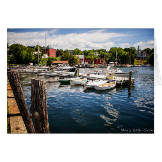 Carte Port de Rockport Maine