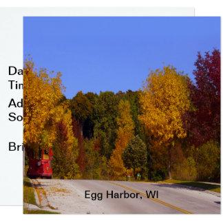 Carte Port d'oeufs, automne de WI avec la voiture de