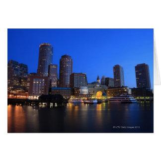 Carte Port et horizon de Boston.  Boston est l'un des 8