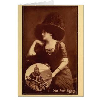 Carte Portrait 1911 de Ruth Roland comme film de Natif