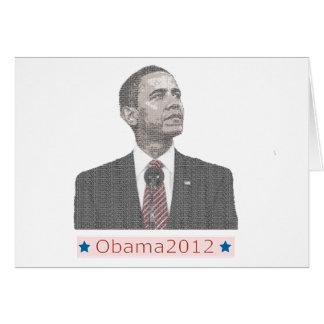 Carte Portrait 2012 des textes de Barack Obama
