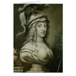 Carte Portrait allégorique de la Reine Christina de