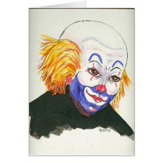 Carte Portrait avant d'un clown