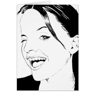 Carte Portrait comique de femme