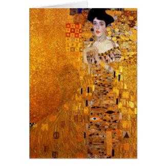 Carte Portrait d'Adele Bloch-Bauer par Gustav Klimt