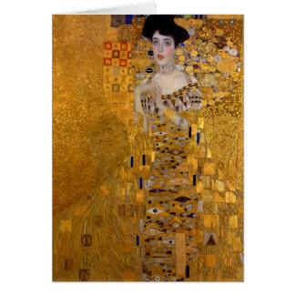 Carte Portrait d'Adele Bloch-Bauer par Gustav Klimt 1907