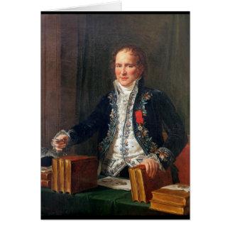 Carte Portrait d'Antoine Francois de Fourcroy