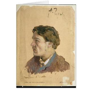 Carte Portrait d'Anton Chekhov