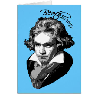Carte Portrait de Beethoven sur des T-shirts, tasses,
