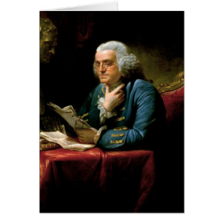 Carte Portrait de Benjamin Franklin