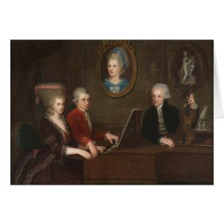 Carte Portrait de famille de Mozart