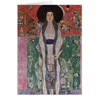 Carte Portrait de Gustav Klimt d'Adele Bloch-Bauer II