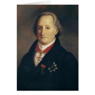 Carte Portrait de Johann Wolfgang von Goethe
