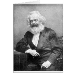 Carte Portrait de Karl Marx