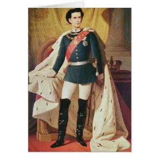 Carte Portrait de Ludwig II de la Bavière dans