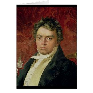 Carte Portrait de Ludwig van Beethoven
