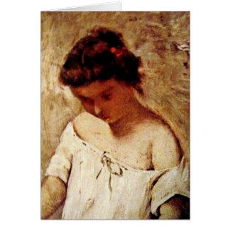 Carte Portrait de petite fille