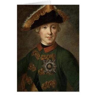 Carte Portrait de tsar Peter III