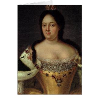Carte Portrait d'impératrice Anna Ioannovna