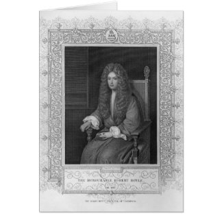 Carte Portrait du Robert honorable Boyle