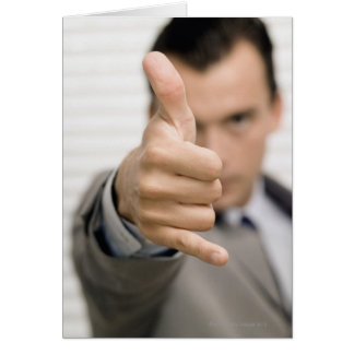 Carte Portrait d'un homme d'affaires composant des