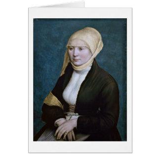 Carte Portrait d'une femme d'Allemagne par Hans Holbein