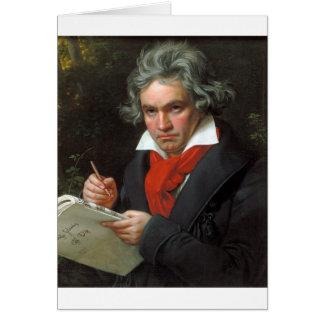 Carte Portrait vintage de compositeur, Ludwig von