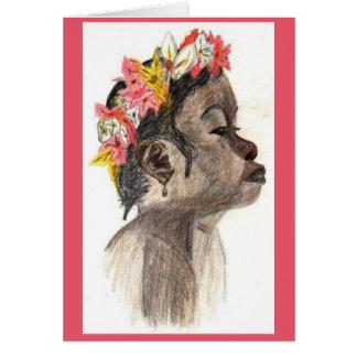 Carte Portraits africains de fille et de femme et plus