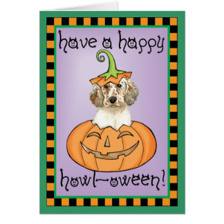 Carte Poseur anglais de Halloween