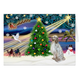 Carte Poseur anglais magique de Noël