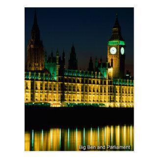 carte postale 03 grand Ben de Londres