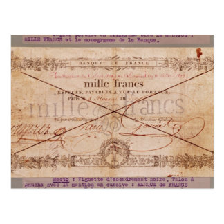 Carte Postale 1000 francs de billet de banque de 8 Floreal, un X