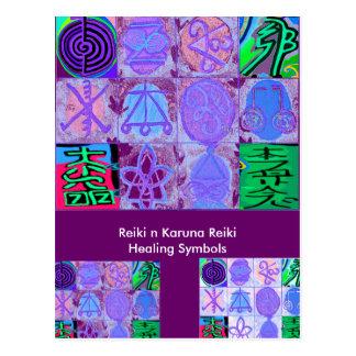 Carte Postale 12 signes de Reiki n Karuna Reiki -