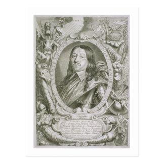 Carte Postale 1622-60) rois de Karl X Gustav (de la Suède, du