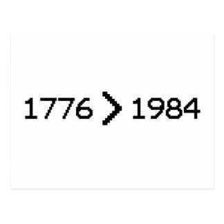 CARTE POSTALE 1776 > 1984