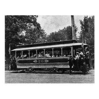 Carte postale 1900 ferroviaire de chariot à