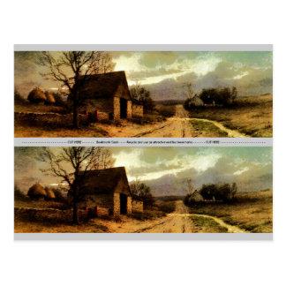 Carte Postale 1912) granges de novembre Twilight (et signets de