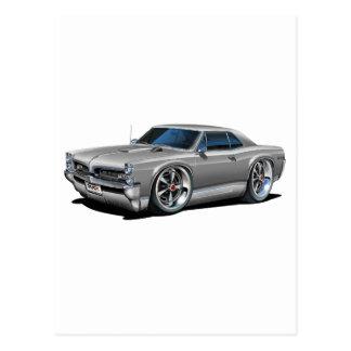 Carte Postale 1966/67 argent de GTO/voiture grise