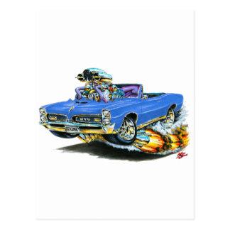 Carte Postale 1966-67 convertible bleu de GTO