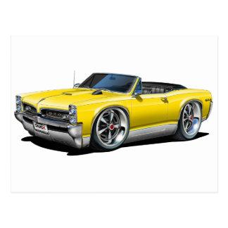 Carte Postale 1966/67 convertible jaune de GTO